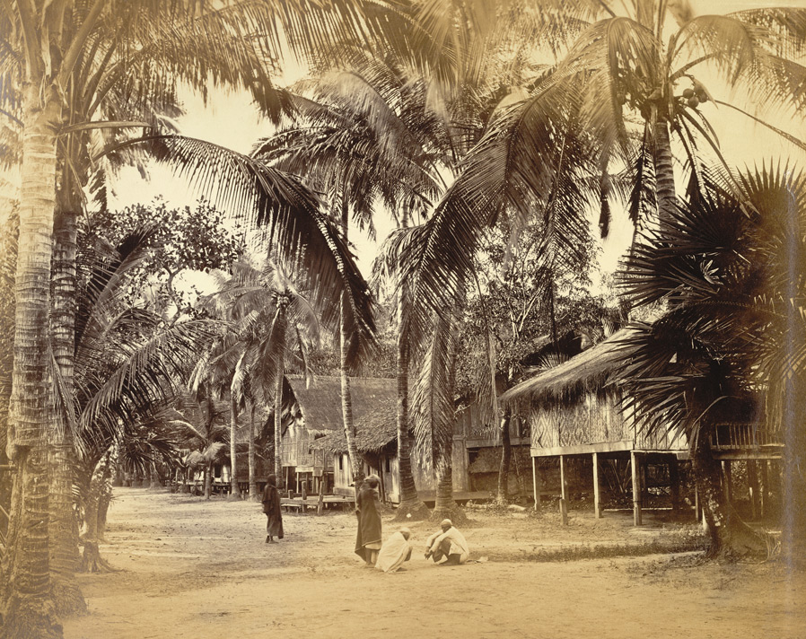 The village of Toungine in the Salween, Moulmein.